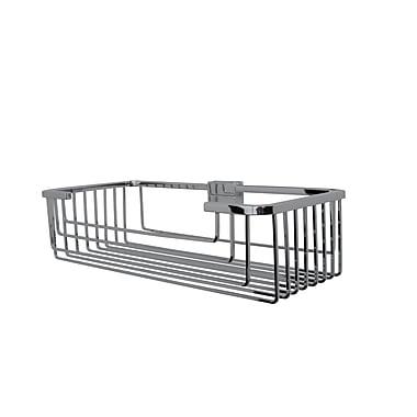Valsan Essentials Solid Brass Wall Mounted Shower Caddy; Satin Nickel