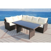 SunTime Outdoor Living Barcelona 3 Piece Seating Group w/ Cushion