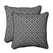 Pillow Perfect In the Frame Indoor/Outdoor Throw Pillow (Set of 2); Ebony