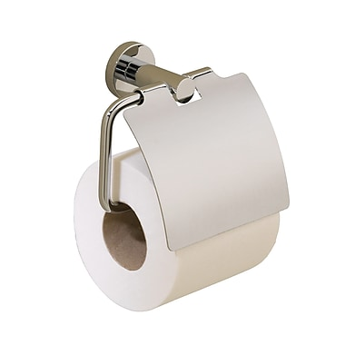 Valsan Porto Wall Mounted Toilet Roll Holder; Polished Nickel