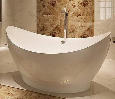 Kardiel HelixBath Eleusis 67.75'' x 31'' Soaking Bathtub