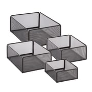 Honey Can Do eXcessory Metal Basket Set, Black (BTS-06595)