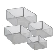 Honey Can Do eXcessory Metal Basket Set, Silver (BTS-06596)