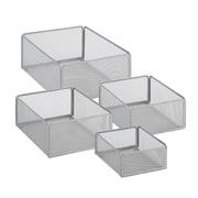 Honey Can Do eXcessory Metal Basket Set, Silver (BTS-06596)
