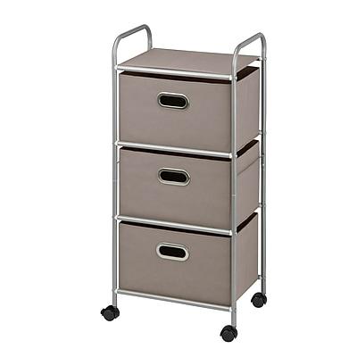 Honey Can Do 3 Drawer Rolling Cart, Gray (CRT-06248)