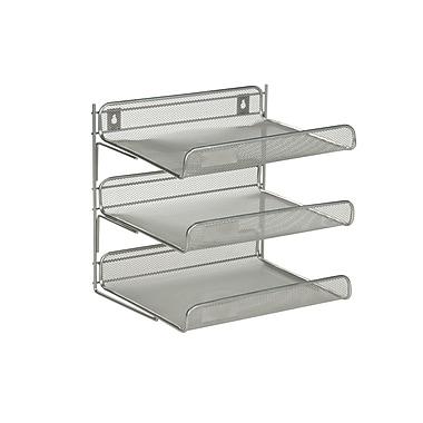 Honey Can Do 3 Tier Mesh Desk Organizer, Silver (OFC-03307)