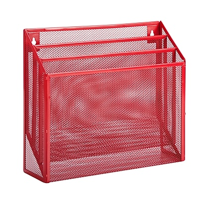 Honey Can Do Vertical File Sorter, Red (OFC-04861)