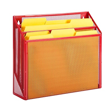 Honey-Can-Do Red Vertical File Sorter, Red (OFC-04861)
