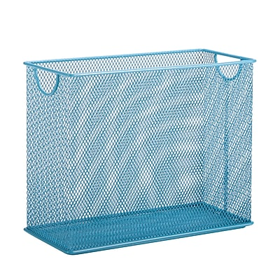 Honey Can Do Mesh Tabletop File, Blue (OFC-04866)