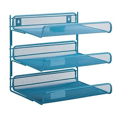 Honey Can Do 3 Tier Mesh Desk Organizer, Blue (OFC-04872)