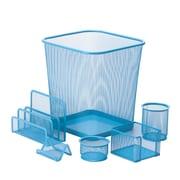 Honey Can Do 6pc Mesh Desk Organization Set, Blue (OFC-04881)