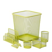 Honey Can Do 6pc Mesh Desk Organization Set, Lime (OFC-04882)