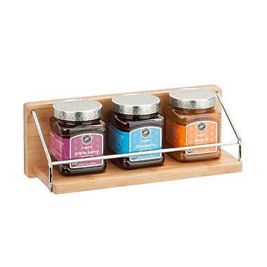 Honey-Can-Do Wall Shelf With Chrome Bars, Natural (SHF-04382)