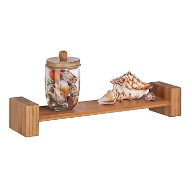Honey-Can-Do Bamboo H Shape Wall Shelf, Natural (SHF-04396)