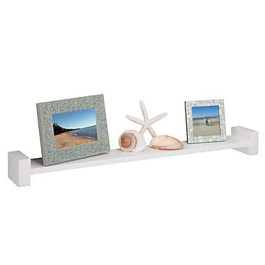Honey-Can-Do Large White H Shaped Wall Shelf, White (SHF-04399)