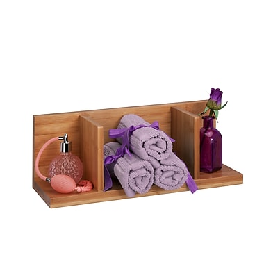 Honey-Can-Do Bamboo Sectioned Wall Shelf, Natural (SHF-04402)