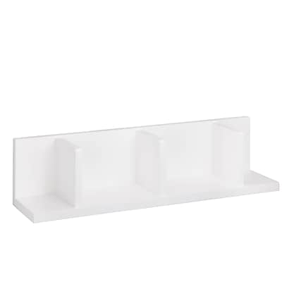 Honey Can Do Large Sectioned Decorative Wall Shelf, White (SHF-04405)
