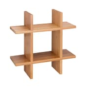 Honey Can Do Grid Shaped Wall Shelf, Natural (SHF-04406)