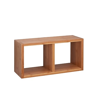 Honey Can Do Double Cube Wall Shelf, Natural (SHF-04408)