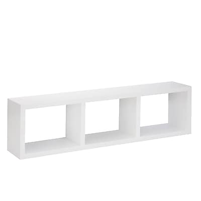 Honey Can Do Triple Cube Wall Shelf, White (SHF-04411)