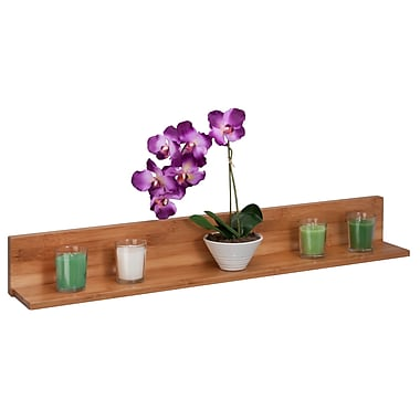 Honey-Can-Do Bamboo L Shaped Wall Shelf, Natural (SHF-04412)