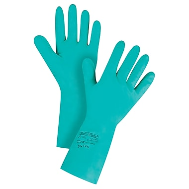 Ansell SAX987 Chemical Resistant Gloves, Nitrile, 11 Mils, 13