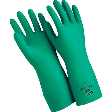 Ansell SAX995 Chemical Resistant Gloves, Nitrile, 22 Mils, 15