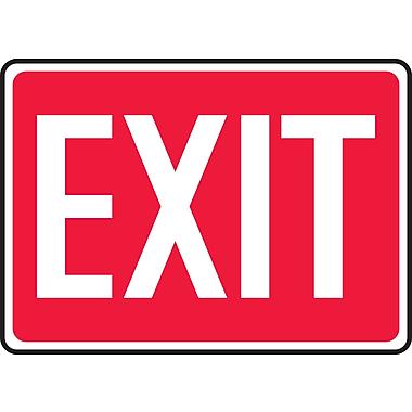 Accuform Signs – Enseigne, Exit, 10 larg. x 14 haut. (po), vinyle, rouge et blanc (MEXT518VS)