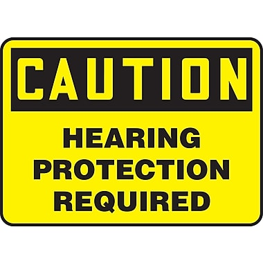 Accuform Signs Caution; Hearing Protection Required, 7