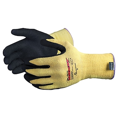 Superior Glove SDN483 Black Widow™ Nitrile Palm Gloves, Nylon Liner, Medium (8), 13 Gauge, 4/Pairs