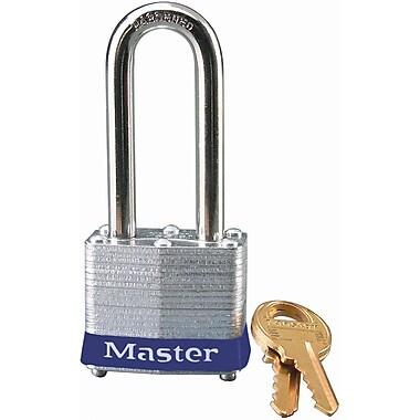 Master LockMD – Cadenas de sécurité Série 3 en acier laminé, bleu, largeur du corps 1 9/16po, clés ident., paq./4 (3LHBLU)
