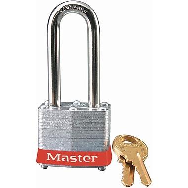 Master LockMD – Cadenas de sécurité Série 3 en acier laminé, rouge, largeur du corps 1 9/16po, clés ident., paq./4 (3LHRED)