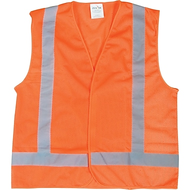 Zenith Safety CSA Compliant Traffic Safety Vest, Medium, Polyester, High Visibility Orange (SEB698)