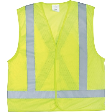 Zenith Safety CSA Compliant Traffic Safety Vest, Large, Polyester, High Visibility Lime-Yellow (SEB703)