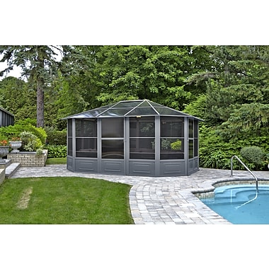 Gazebo Penguin All-Season Solarium, 12' x 15', Grey (41215-32)