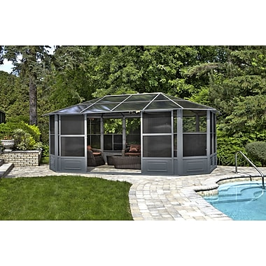Gazebo Penguin All-Season Solarium, 12' x 18', Grey (41218-32)