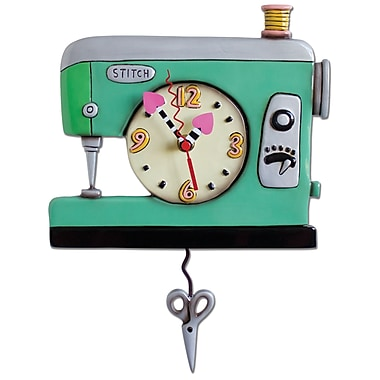 Allen Designs Stitchin' Sewing Machine Clock