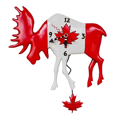 Allen Designs ADP1482 Canadian Moose Clock