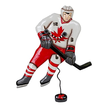 Allen Designs ADP1480 Canadian Hockey Player Clock