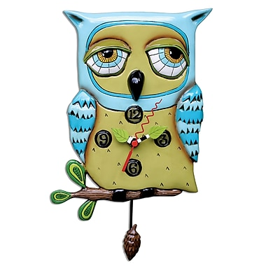 Allen Designs ADP1062 Old Blue Owl Clock