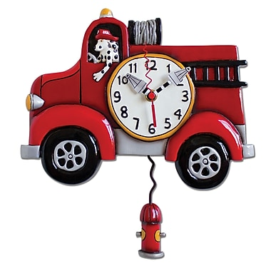 Allen Designs ADP1306 Fire Truck Clock
