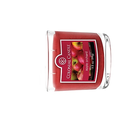 Bougie Colonial Candle CC0351135 et pot ovale de 3,5 oz, verger, paq./2