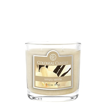 Bougie Colonial Candle CC0351339 et pot ovale de 3,5 oz, simplement vanille, paq./2