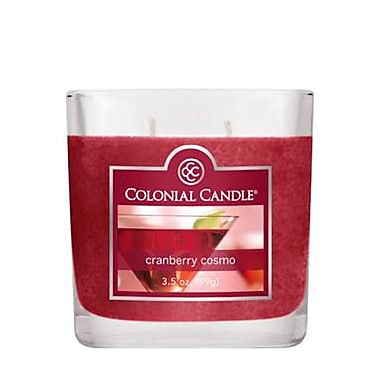Colonial Candle 3.5 oz. Oval Jar, Cranberry Cosmo, 2/Pack (CC0351867)