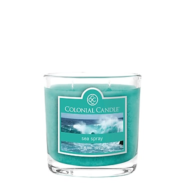 Colonial Candle 3.5 oz. Oval Jar, Sea Spray, 2/Pack (CC0351899)