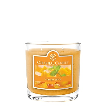 Colonial Candle 3.5 oz. Oval Jar, Mango Salsa, 2/Pack (CC0352073)