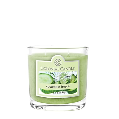 Colonial Candle 3.5 oz. Oval Jar, Cucumber Fresca, 2/Pack (CC0352177)