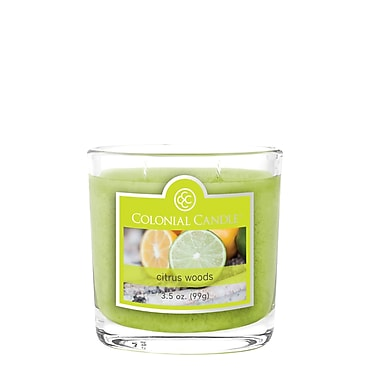 Colonial Candle 3.5 oz. Jar, Citrus Woods, 2/Pack (CC0354648)