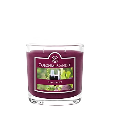 Colonial Candle 3.5 oz. Jar, Fine Merlot, 2/Pack (CC035584 )