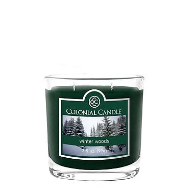 Colonial Candle – Bougie CC035706 et pot de 3,5 oz, boisés d–hiver, paq./2